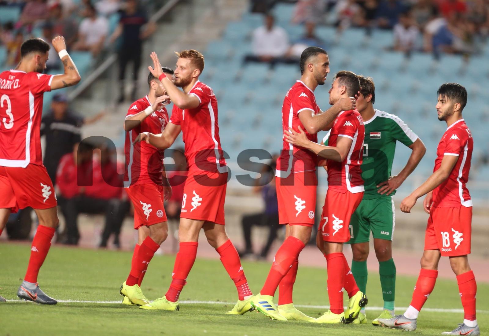 صور الشوط الأول لمباراة المنتخب الوطني التونس و المنتخب العراقي