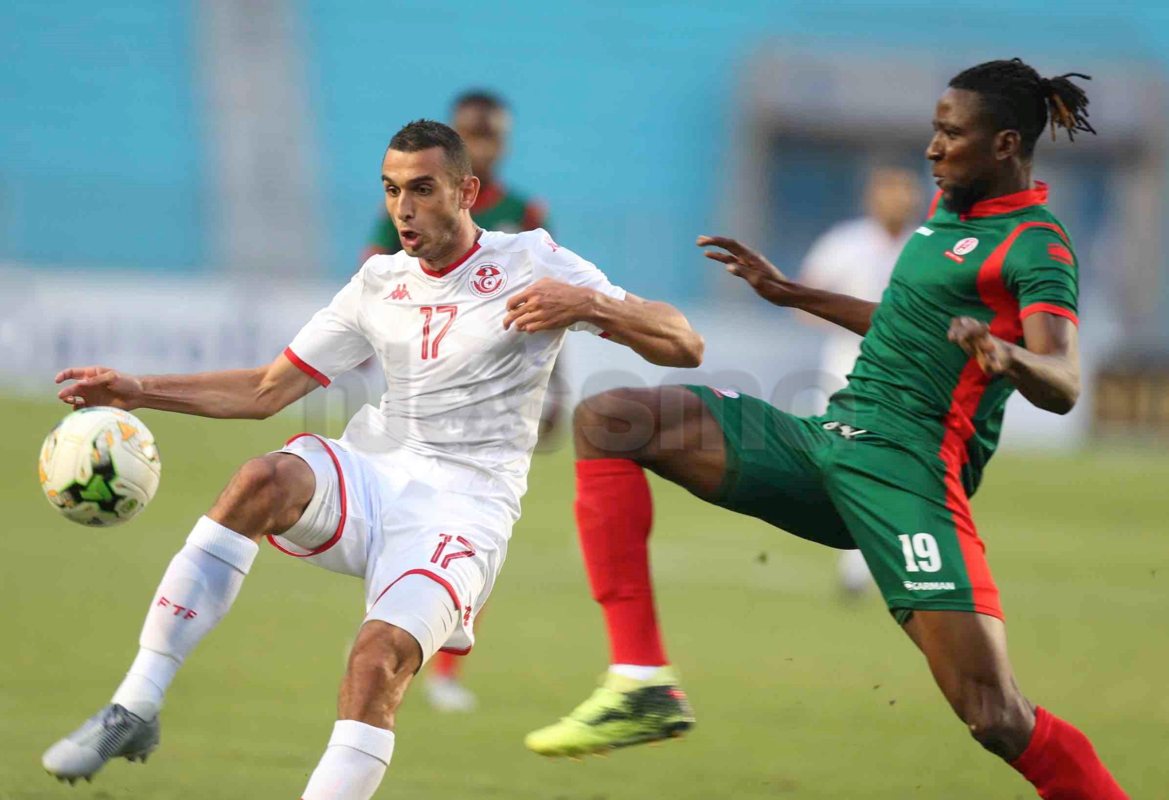 صور الشوط الأول لمباراة المنتخب الوطني التونسي والمنتخب البوروندي