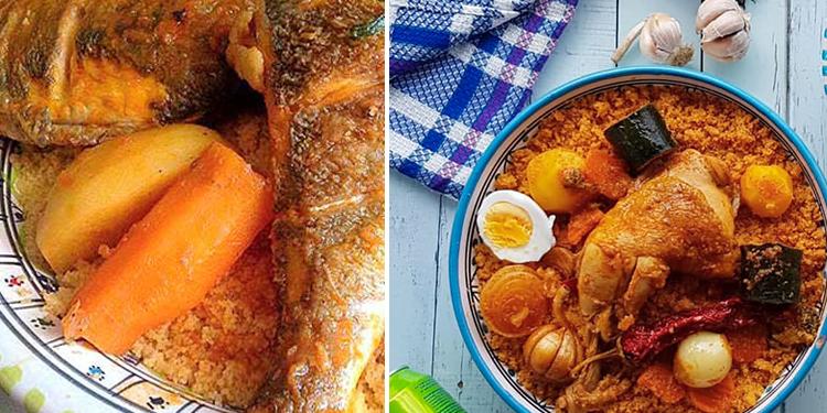Couscous Tunisien au poulet ou encore au poisson