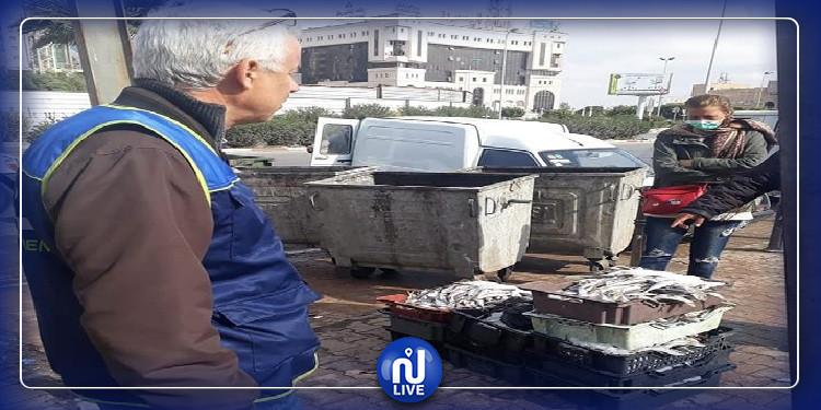 صفاقس: الشرطة البيئية تحجز 300 كغ من الأسماك غير صالحة للاستهلاك