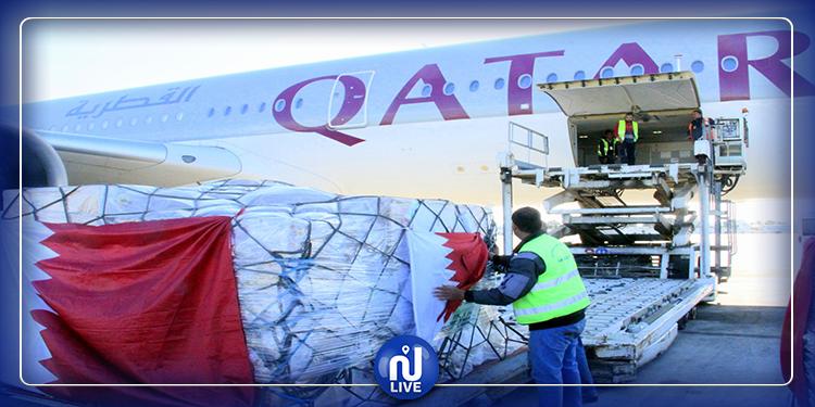وصول شحنة من المساعدات الطبية من دولة قطر (صور)