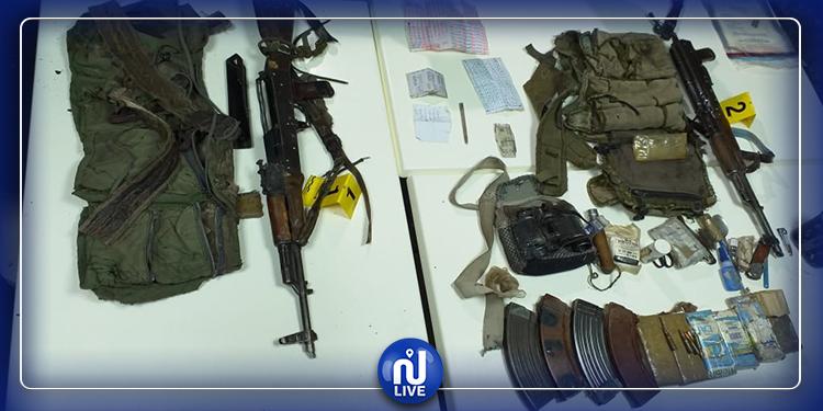 عملية جبل السلوم : حجز سلاحين كلاشنكوف و ذخائر ومتفجرات بحوزة الإرهابيين