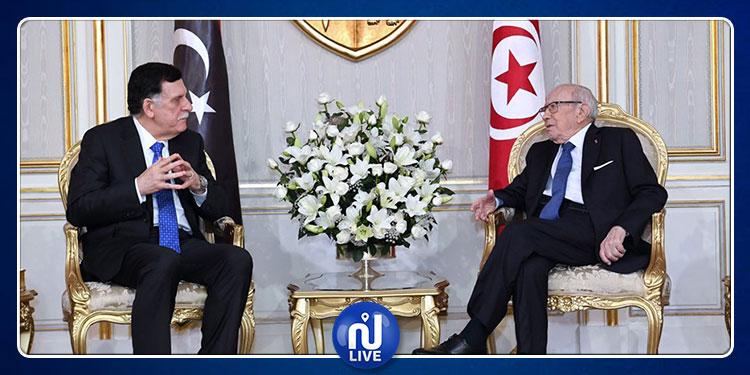 السبسي يستقبل السراج ويؤكّد: ليس لدى تونس أية أجندة في ليبيا سوى عودة الوئام