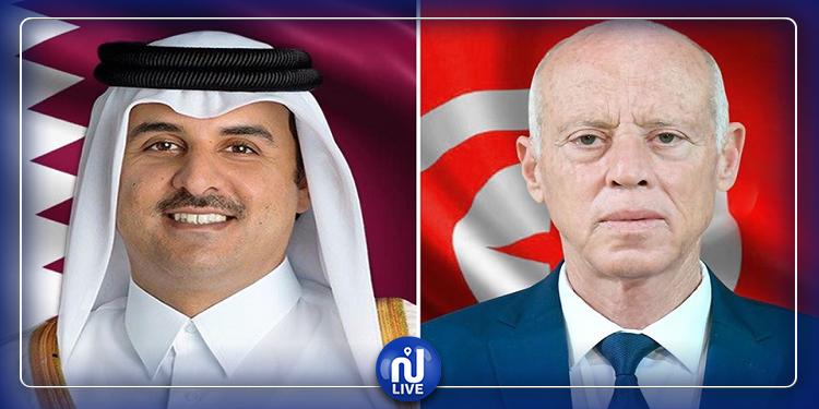 قيس سعيّد لأمير قطر: كل إمكانيات تونس على ذمّة الشعب القطري