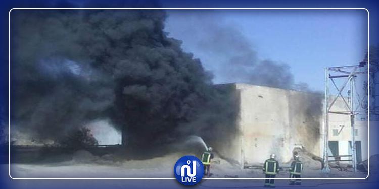Gafsa : L'incendie près de la laverie d'Om Larayes a été maîtrisé