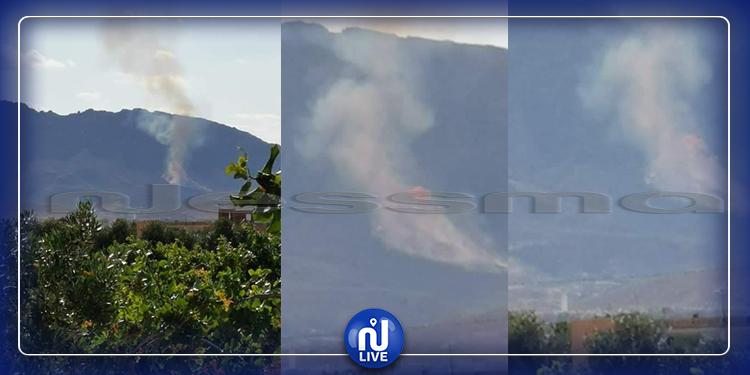 سيدي بوزيد: حريق كبير بجبل الخشم من معتمدية السعيدة