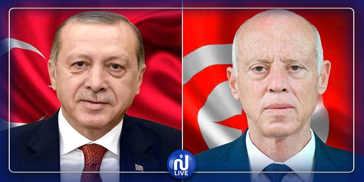 مكالمة هاتفية بين قيس سعيّد و رجب طيب أردوغان