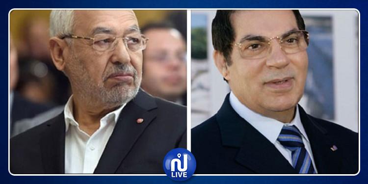 راشد الغنوشي: أنا مع عودة بن علي إلى تونس
