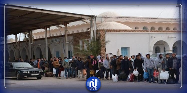 مدنين: 400 ليبي يغادرون نحو بلادهم بعد إنهاء فترة الحجر الصحي
